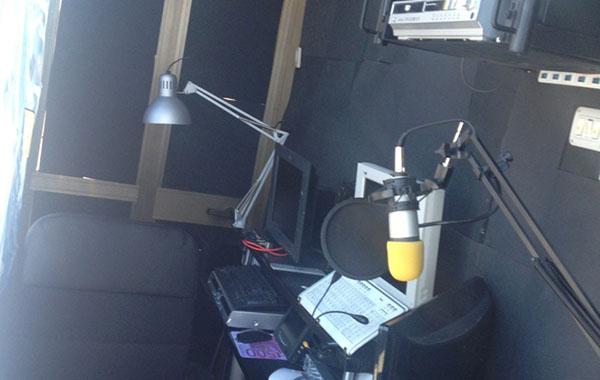 Gli studi di Radio M2Z